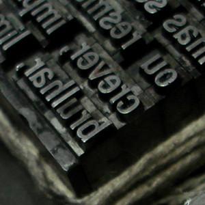 Metal typeset